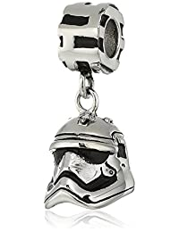 Star Wars Jewelry Episode 7 Stormtrooper Stainless Steel Dangle Bead Charm