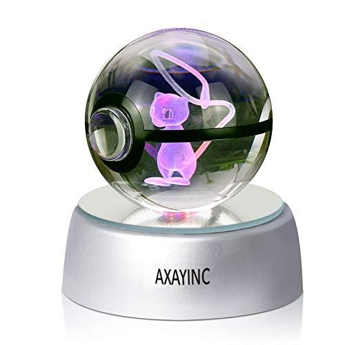 AXAYINC 3D Crystal Ball LED Night Lights Advance Laser Engraving Children's Gift (MH001) -