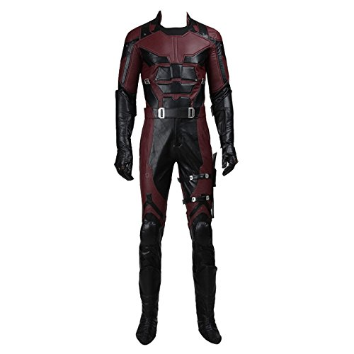 CosplayDiy Men's Costume Suit for Daredevil Superhero Cosplay M -