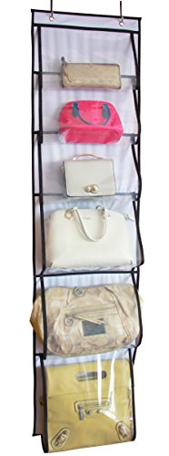 MISSLO Over Door Organizer for Handbags, Caps, Accessories (White)