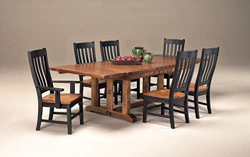 Intercon Rustic Mission 7 Pc Dining Set (44 x 72-108, 2-18