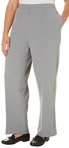 Alfred Dunner Plus Classic Short Pants 16W Short Pewter grey