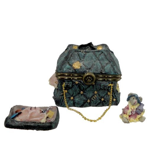 (Boyds Bears Resin MARY LOUS BOTTOMLESS PURSE 82504 Mother's Day TREASURE BOX New)