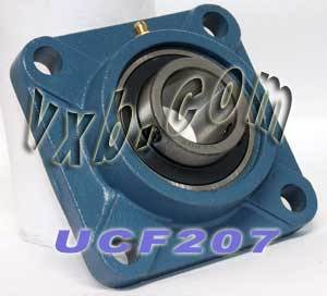 35mm Bearing UCF-207 + Square Flanged Cast Housing Mounted Bearings