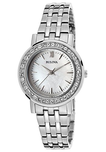 Bulova Women's Interchangable Bezel Watch Box Set Bulova Ladies Crystal Bezel