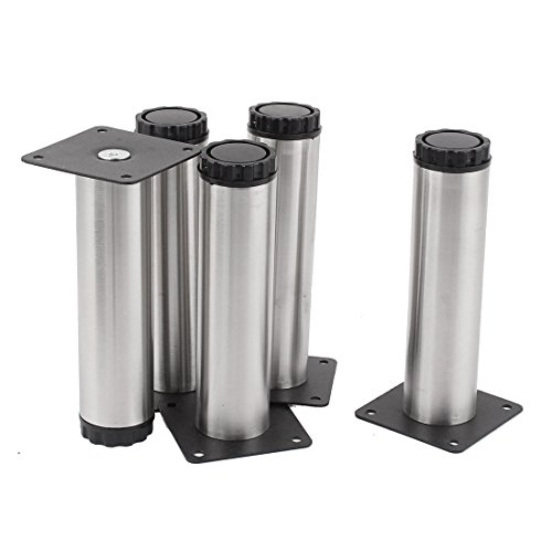 150mm High Cabinet Sofa Table Round Adjustable Leg Feet Stand 5pcs (Centure Furniture)