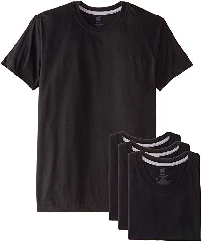 (ifidex Eletina T Shirts for Skinny Men , Men S 4 Pack FreshIQ Crew T Shirt, Black Tshirts for Men Pack Tagless)