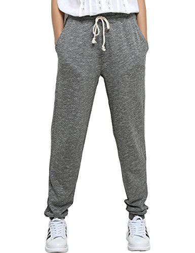 T-INSIDE Sweatpants with Pockets Women's Leisure Gray Joggers Pants