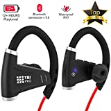 Bluetooth Headphones w/ 12+ Hours Battery - Best Workout Wireless...