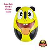 Kids Wireless Mouse for Computer, Laptop, PC – Small Mini Optical Cordless Mice with USB Receiver – Cute, Comical with Ergonomic Design for Children's Small Hands