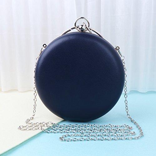 Bag Black Fashion Blue Wedding Party Evening Mini Women's JAGENIE Round Clutch Handbag Bags Purse gnqwHZH0