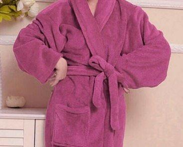 Hylong Band New Distaff Lady loosen Long Sleepwear Comfortable Robes Coral Fleece Spa Bathrobe Pink one size by Hylong (Image #1)