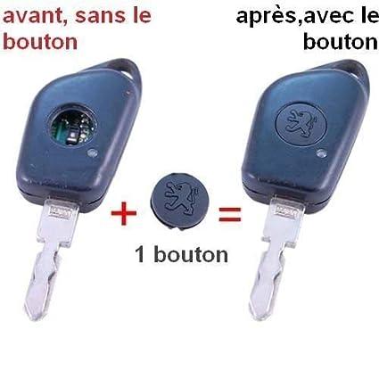Botón de plástico para llave para Peugeot 106, 206, 306, 406, etc.