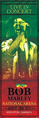 (21x62) Bob Marley Concert Kingston Jamaica Music Door Poster Print