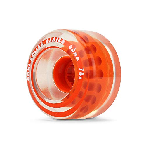 Moxi Skates - Gummy - Outdoor Roller Skate Wheels - 4 Pack of 40mm x 65mm 78A Wheels | Clementine