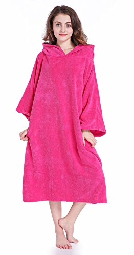 Winthome Changing Towel Poncho Robe with Hood | One Size Fits ()