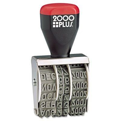 2000 Plus Traditional Date Stamp, Six Years, 1 3/8 X 3/16-Inch, Size 2 Dater (012731)