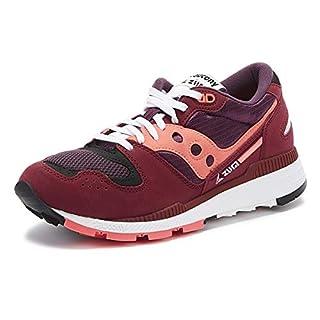 Saucony Men's Azura Sneaker, maroon/pink, 11