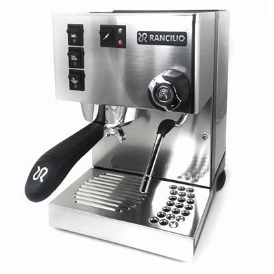 Rancilio Silvia Espresso Machine with Iron Frame and Stainless Steel Side Panels, 11.4 by 13.4-Inch (Silvia Pod)