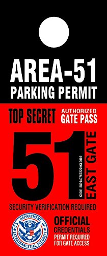 area 51 security ufo parking permit from area51
