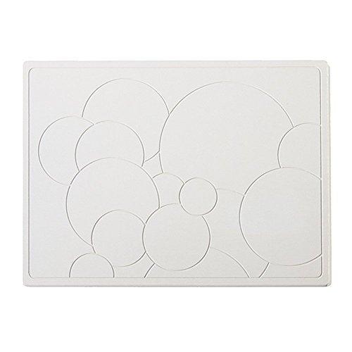 Ube board Soukai-Bathmat W22.6×D16.7×H0.37inch Bubble Diatomaceous earth by Ube board