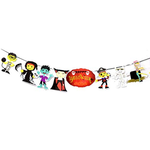 Dreamyth Halloween DIY Paper Hanging Banner Pull Flower Halloween Party Decoration Props (D) -