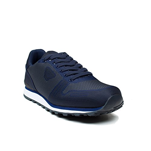 Armani Jeans Men's Blue Graphite Trainers Azul