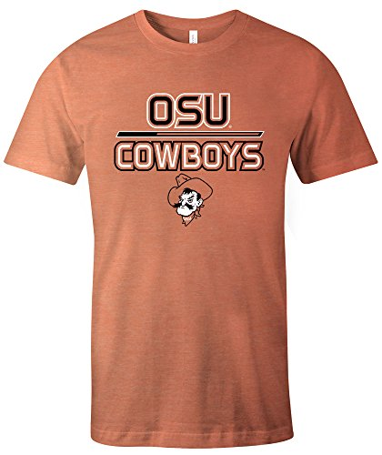 Image One NCAA Oklahoma State Cowboys Adult NCAA Reverse Short Sleeve Triblend T-Shirt,Large,Orange (Cowboys Basketball State Oklahoma)