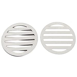 uxcell Stainless Steel Kitchen Bathroom Round Floor Drain Cover 8.6cm 4Pcs