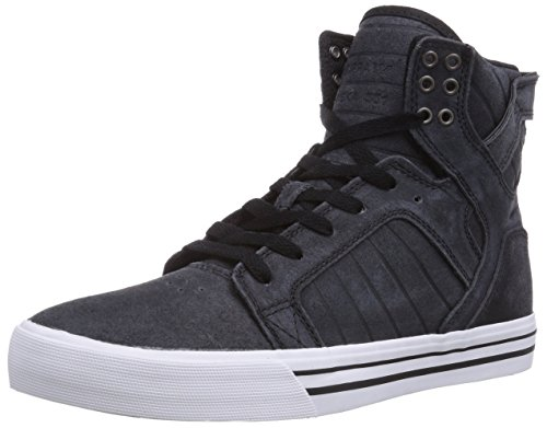 Supra Skytop, Sneaker Alta Uomo Nero (Schwarz (Black / White - White Bkw))