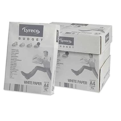 Lyreco White A4 Quality 80gsm Copier Printer Paper Office Papers Reams /& Boxes