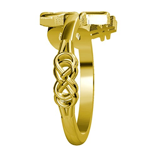 Daughter Infinity Rings in 18k Yellow Gold - size 7 by Sziro Infinity Rings (Image #1)