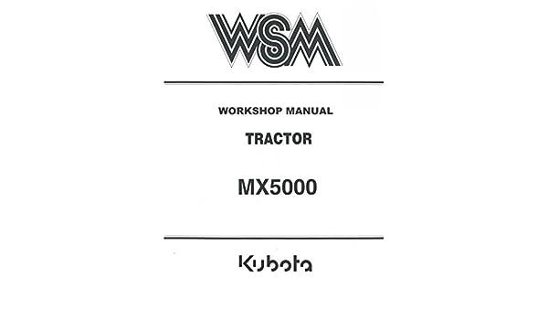 amazon com kubota tractor mx5000, repair service manual cd dvd pdf Kubota Starter Diagram