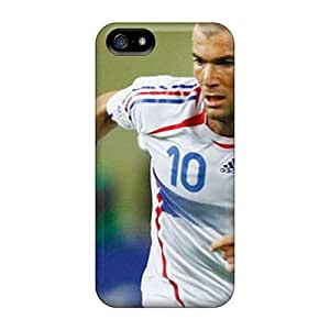 High Impact Dirt/shock Proof Cases Covers For Ipod Touch 5 (the Legend Of Football Zinedine Zidane On The Field)