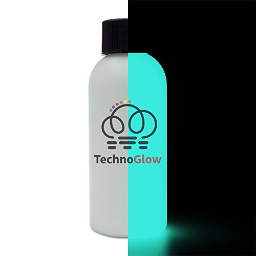 Glow in The Dark Paint, Aqua Bright Glow - Multiple Colors 2 fl oz