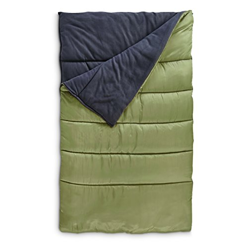 Guide Gear Fleece Lined Double Sleeping Bag, 20°F by Guide Gear