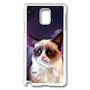 iCustomonline Grumpy Cat Case for Samsung Galaxy Note 4 PC White