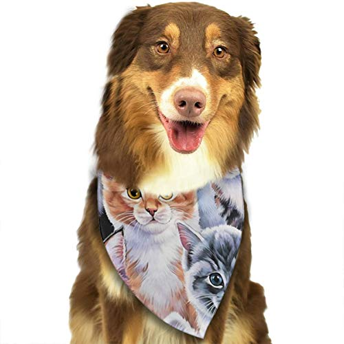 OURFASHION Kitten Collage Bandana Triangle Bibs Scarfs Accessories for Pet Cats and Puppies]()