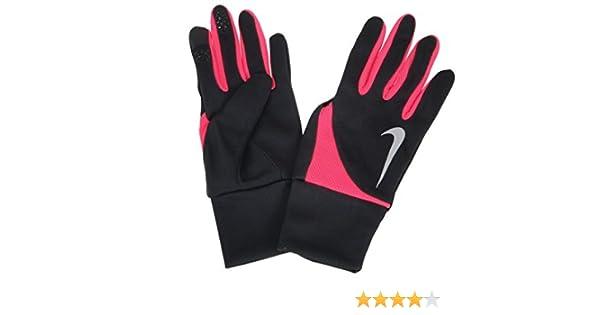 Nike Dri-Fit Tailwind Run Gloves - Womens - black/hyper pink, medium: Amazon.es: Deportes y aire libre