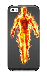 LJF phone case Faddish Phone Human Torch Case For ipod touch 4 / Perfect Case Cover