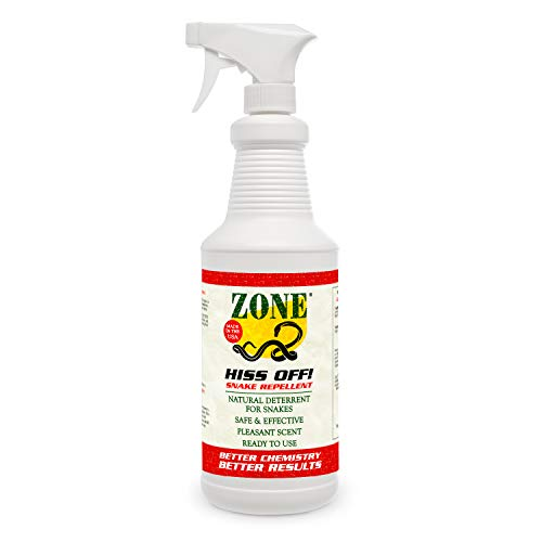 Zone Hiss Off! Snake Repellent Spray | Repel Snakes from Yard and Garden | Natural Snake Repeller Oils and - Snake Hiss