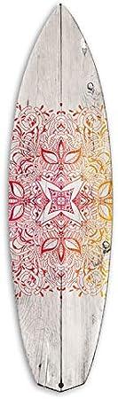 Aqua Vertikale D/écoration Murale Planche de Surf Alu Longboard Motif Wave Effet Bois 3 Couleurs 150 x 35 cm