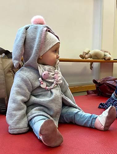 Odziezet Cappotto con Cappuccio Coniglio da Bambina Giacca Incappucciato per Inverno Autunno 0-6 Anni 3