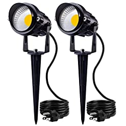 Garden and Outdoor SUNVIE Outdoor Landscape LED Lighting 12W Waterproof Garden Lights COB Led Spotlights with Spiked Stand for Lawn… outdoor lighting