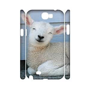 ALICASE Hard case Sheep 3D Diy For Case Samsung Galaxy Note 2 N7100 Cover [Pattern-1]