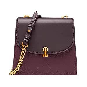 Handbag Shoulder Bag Brown Distaff Bag Double-Sided Pitch Bag Chain Shoulder Messenger Bag Ladies Bag 16 * 13.5 (cm) Women's Handbag Shoulder Bag