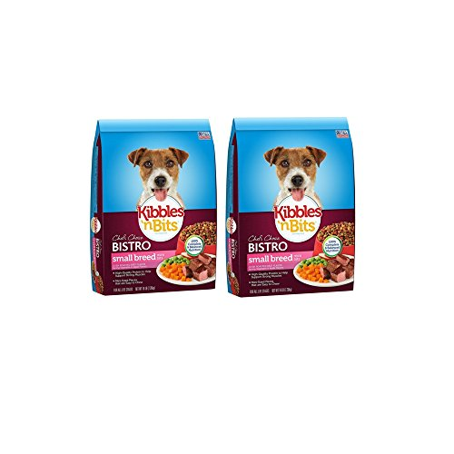 Kibbles 'n Bits Bistro Mini Bits Small Breed Oven Roasted Beef Flavor Dog Food, 32 lbs