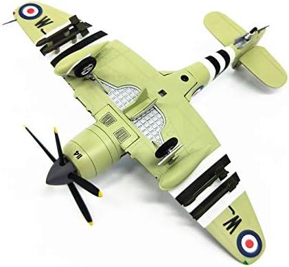 Vliegtuigmodel decoratie, gevechtsmodel carrier vliegtuig replica Britse klassieke gevechtsvliegtuigen legering spuitgieten collectie souvenirs