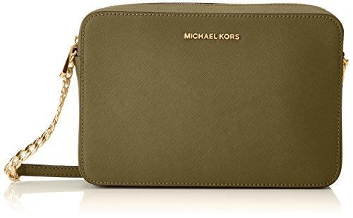 MICHAEL Michael Kors Womens Jet Set Travel Large Crossbody (Olive) (Michael Kors Fashion Store)