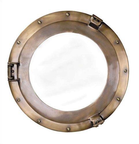 Bronze Lounge Porthole Mirror, (Bronze Lounge Porthole Mirror)